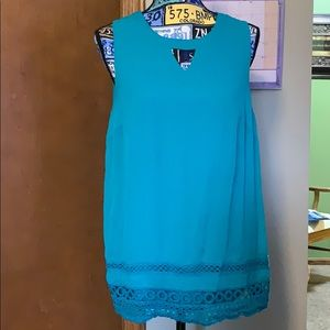 Apt. 9 Sleeveless Teal Lined Top Size L